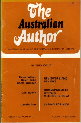 The Australian Author - Apr 1980