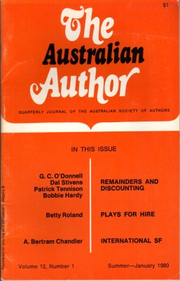 The Australian Author - Jan 1980