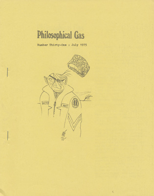 Philosophical Gas No: 31 - Jul 1975