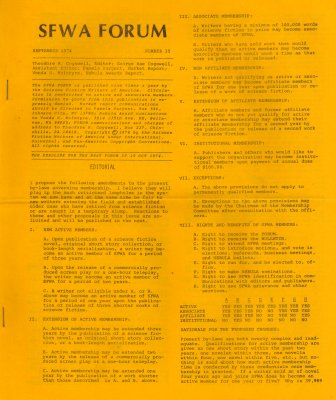 SFWA Forum No: 35 - Sep 1974